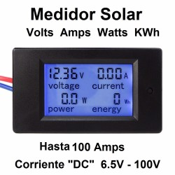 Medidor Solar Paneles Dc Kw Volts Amps Mc4 Multimetro
